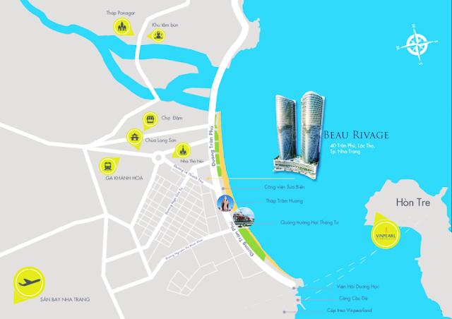 Vị trí đắc địa của dự án Beau Rivage Trần Phú