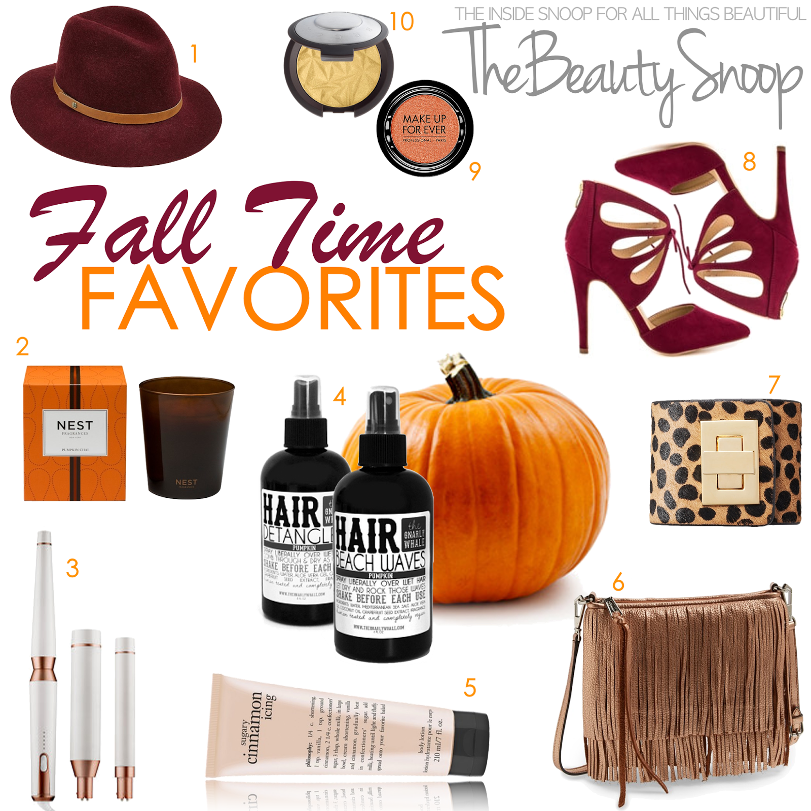 Pumpkin scented beauty products
