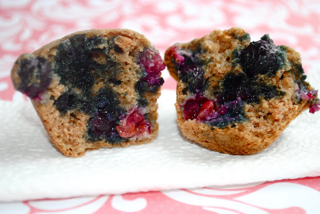 Mini Multi-Grain Blueberry Muffins - Fit Foodie Finds