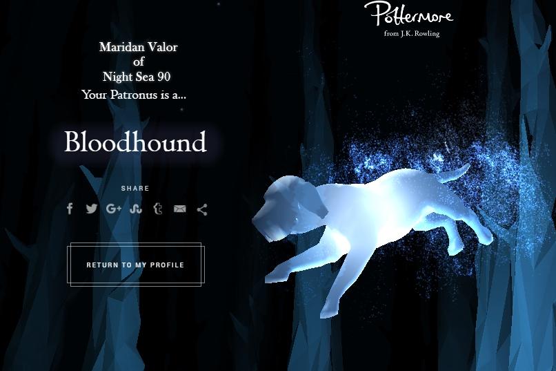 Night Sea Pottermore My Patronus