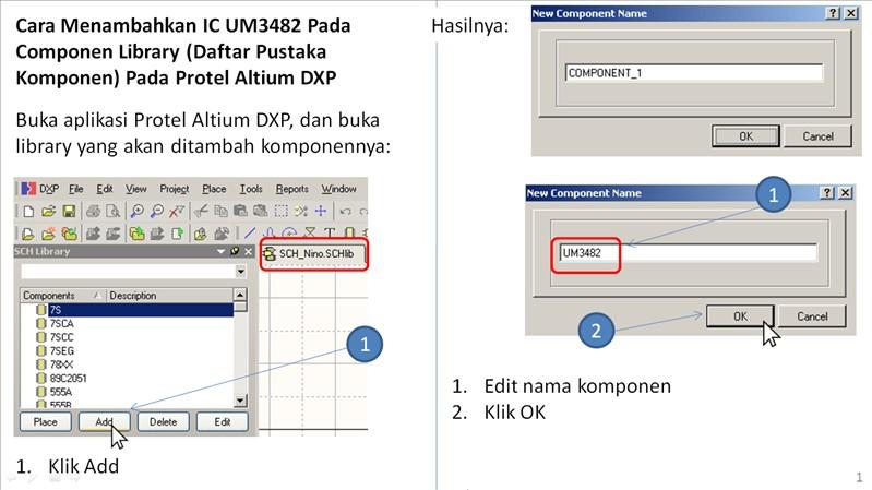 Niguru Cara Menambahkan Ic Um3482 Pada Componen Library Daftar