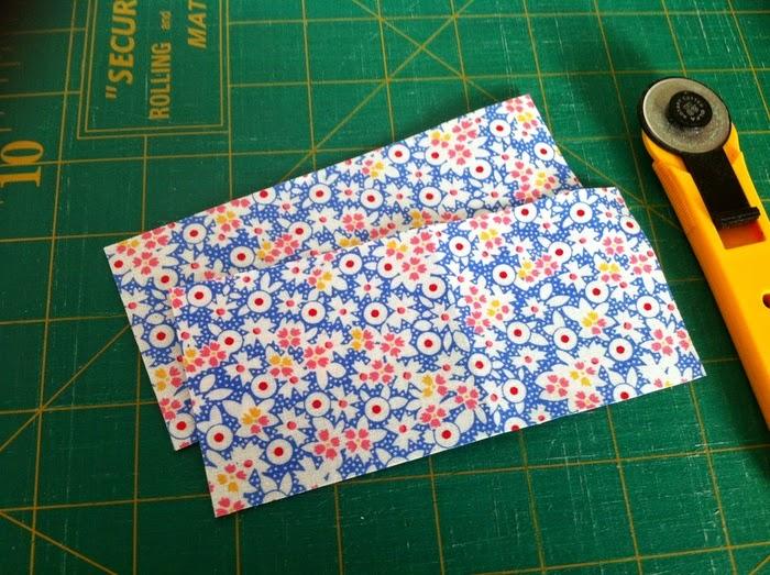 Gesneden lapjes voor quilt