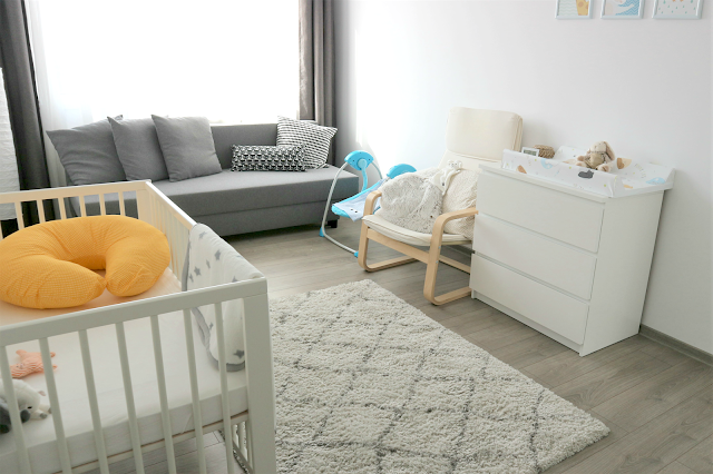 neutral baby boy nursery decor with ikea furniture