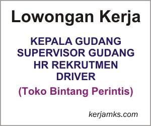 Lowongan Kerja di Toko Bintang Perintis Makassar