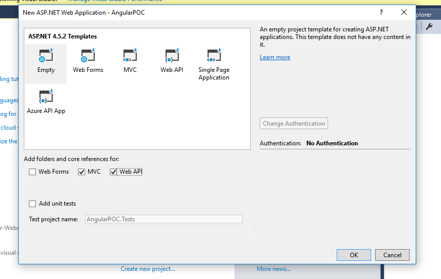 Single page application in asp.net mvc 5