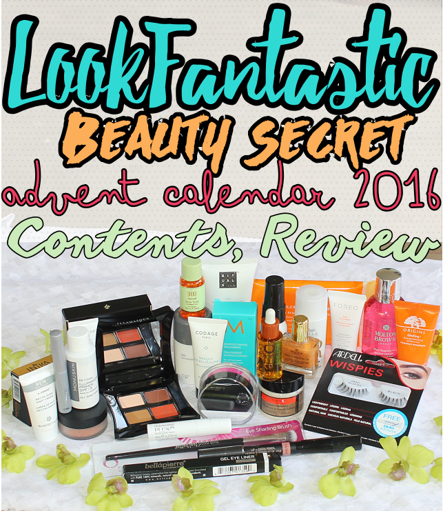 LookFantastic Beauty Secret Vol. 2 Advent Calendar for Holiday 2016 contents, review, unboxing; comparison with 2015's #LFAdventCalendar.