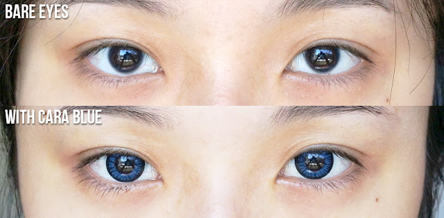 K-lenspop Cara Blue Review, Klenspop Contact Lens Review, Klenspop Cara Blue Before After