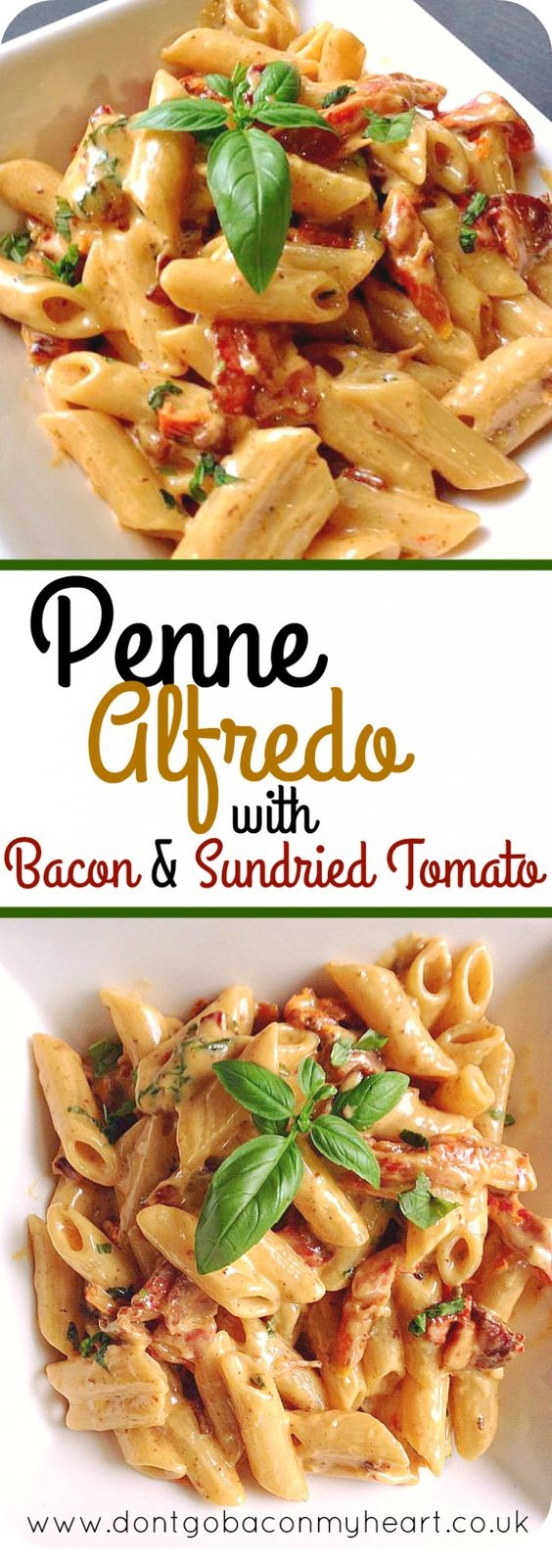 Penne Alfredo with Bacon and Sun Dried Tomato