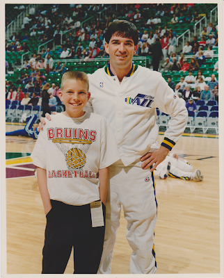 Tim McGaffin II and John Stockton, April 17, 1992