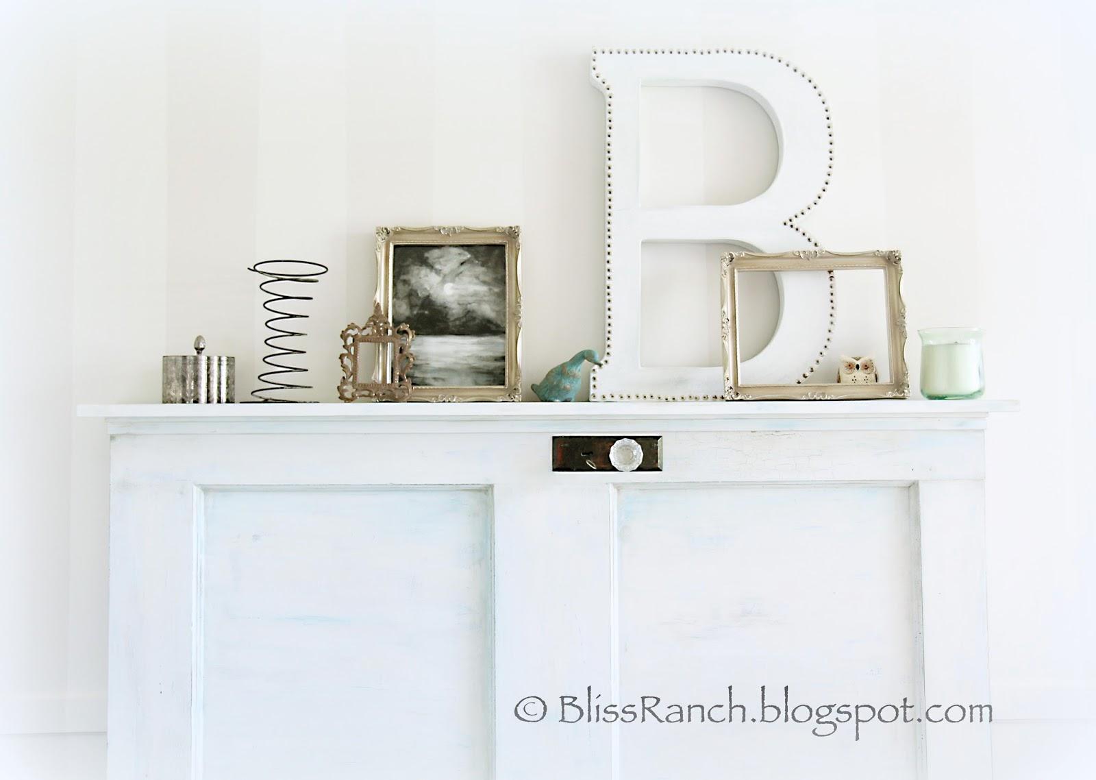 Upcycled Door Headboard Girls Bedroom Bliss-Ranch.com