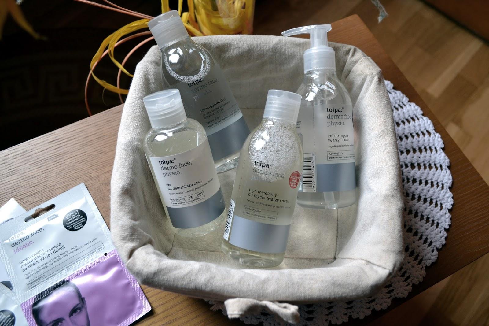 Produkty do pielęgnacji twarzy od Tołpa, z serii Dermo Face, Physio