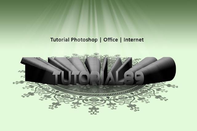 Cara membuat tulisan efek center 3D dengan photoshop