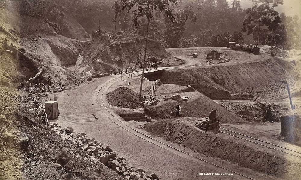 Darjeeling Hill Railway under Construction on One of the Loops of the Railway, Probably at Rangtong - 1879
