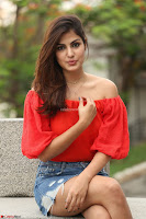 Rhea Chakraborty in Red Crop Top and Denim Shorts Spicy Pics ~  Exclusive 012.JPG