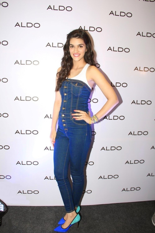 Actress Kriti Sanon Long Hair Stills in Blue Dress