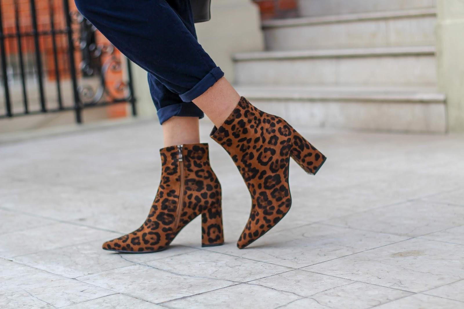 leopard print ankle boots public desire