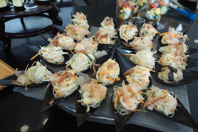 amuse dine and bar review hotel buffet soba with bonito flakes