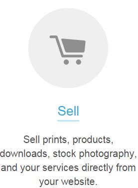 Link da página de informações de vendas de fotos - Photoshelter