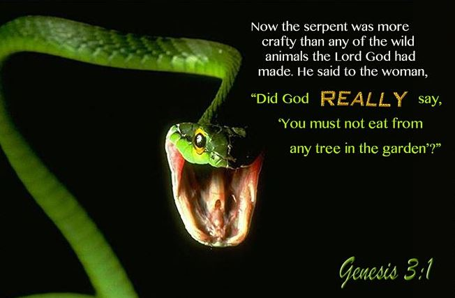 The serpent 39 s question did god really say - Who was the serpent in the garden of eden ...