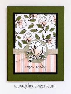 Stampin' Up! Good Morning Magnolia Card ~ Magnolia Lane ~ 2019-2020 Annual Catalog ~ Stamp of the Month Club Card Kit ~ www.juliedavison.com