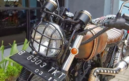 Hondayes  Modifikasi Yamaha Scorpio   Scrambler Rusty