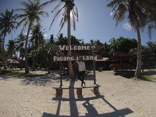 foto tulisan welcome di pulau pagang
