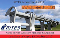 RITES Limited Recruitment 2017– 50 Assistant Manager & Engineer