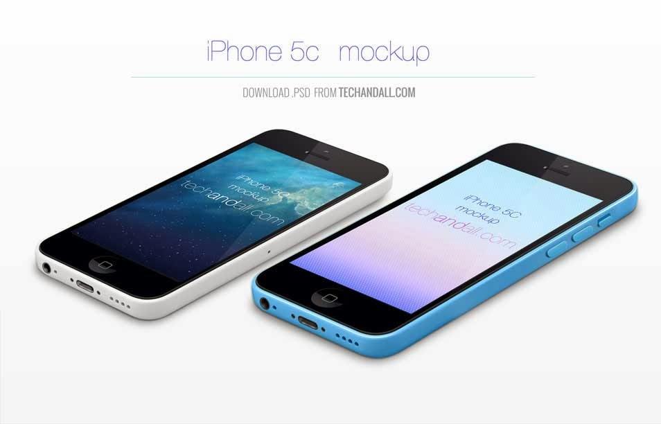 Perspective iPhone 5C Mockup