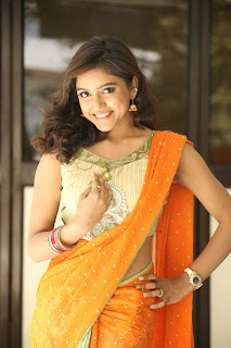 Actress Vithika Sheru Pictures in Saree at Paddanandi Premalo Mari Press Meet CelebsNext 9.JPG