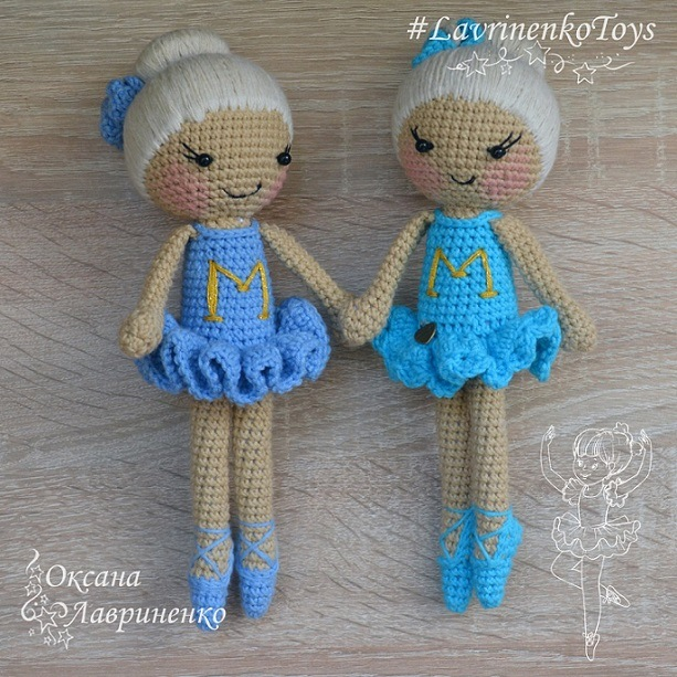 Кукла балерина крючком амигуруми