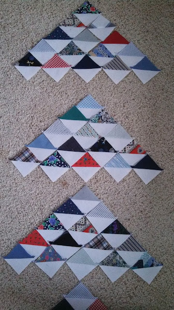 Memory quilt using Point Me pattern