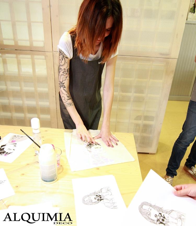 transferir-imagenes-sobre-tela-innspiro-taller-evento-frida-khalo