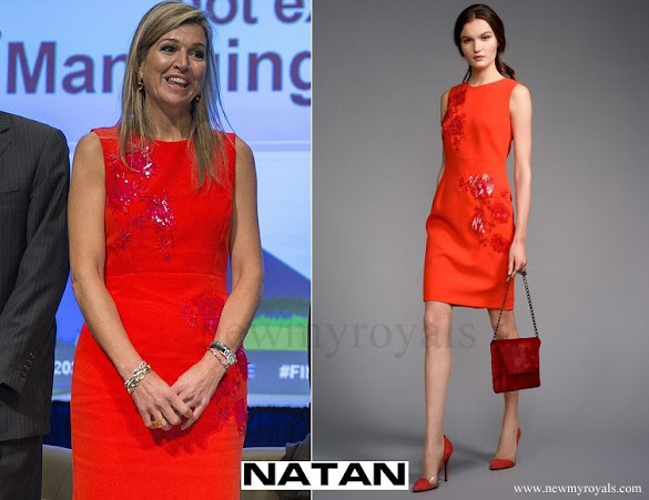 Queen Maxima wore NATAN Dress - Edouard Vermeulen Fall Winter 2016