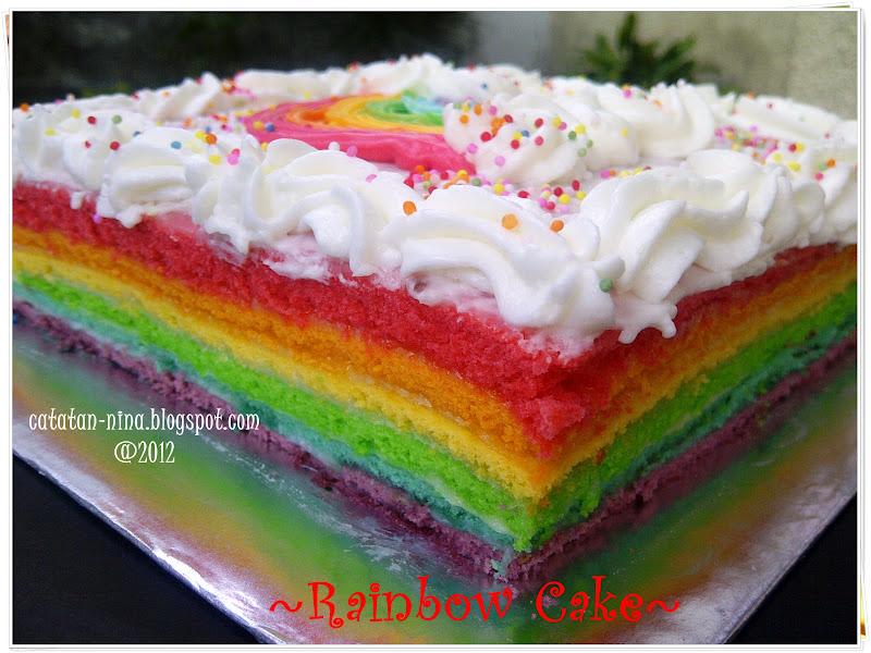 Resep Rainbow Cake Ncc Fatmah Bahalwan