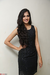 Simran Chowdary Model in Beautiful Black Dress at FBB Miss India 2017 finalists at Telangana auditions (24).JPG