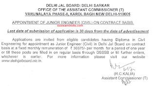 Delhi Jal Board notice