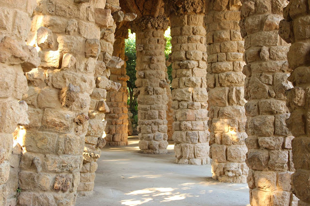 Colonnaded Pathway| Park Guell  | Chichi Mary Blog