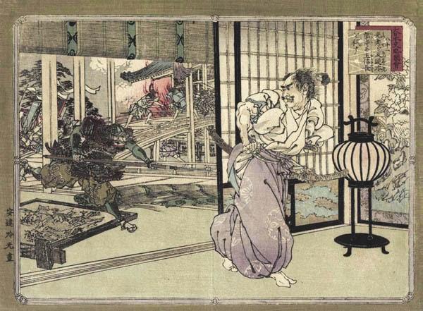 Akechi Mitsuhide attacca Oda Nobunaga al tempio Honno-ji - Ginko