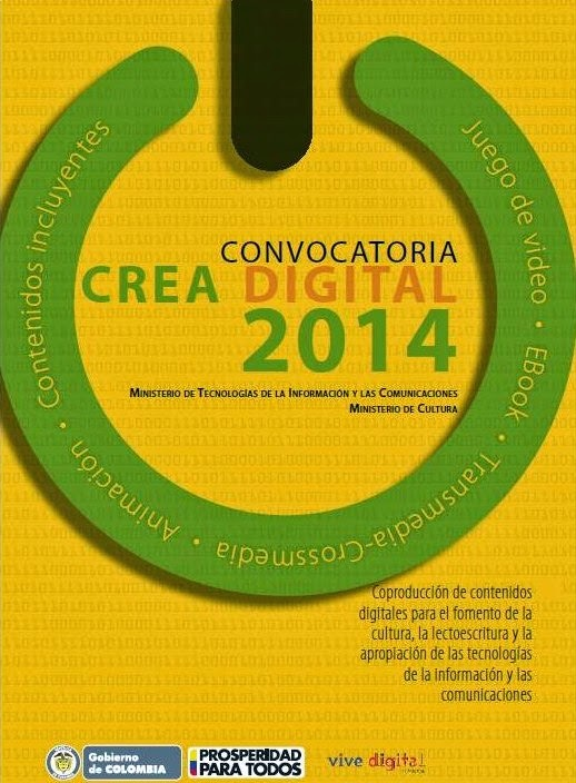logo convocatoria crea digital 2014 MinTIC y MinCultura