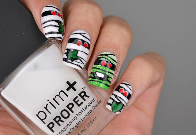 Marijuana Mummies Nail Art