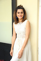 Taapsee Pannu in cream Sleeveless Kurti and Leggings at interview about Anando hma ~  Exclusive Celebrities Galleries 045.JPG