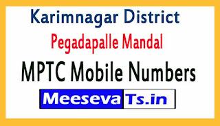 Pegadapalle Mandal MPTC Mobile Numbers List Karimnagar District in Telangana State