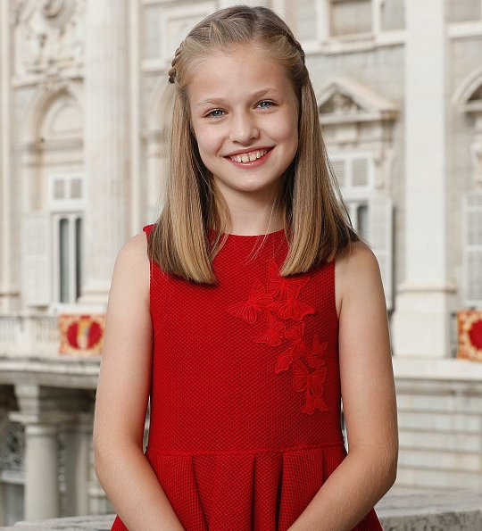 Royal Palace of Spain published a new official photo of Princess Leonor of Asturias on the occasion of her 12th birthday