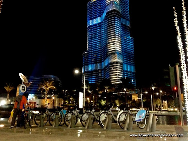 Nextbike rental station in front Burj Khalifa