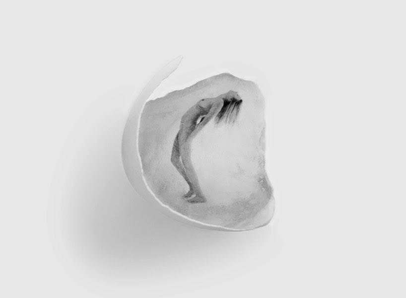 cretratos plasmados en cascarones de huevo