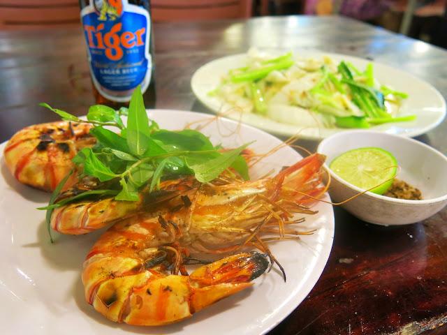 Night Market på Pho Quoc nattmarknad Duong Dong