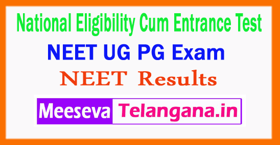 NEET Central Board of Secondary Education National Eligibility Cum Entrance Test CBSE NEET PG UG Results 2018