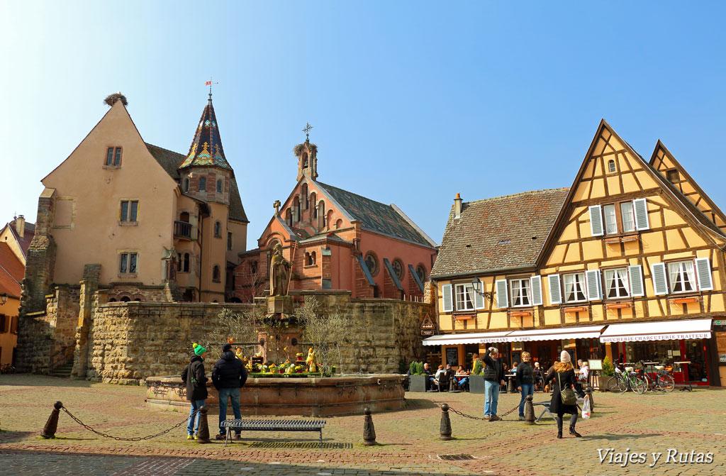 Plaza del castillo, Eguisheim