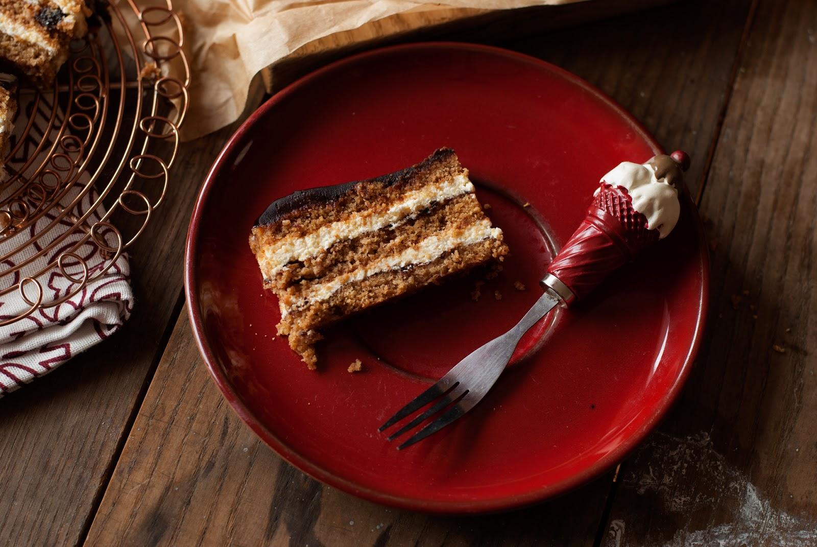 Ciasto królewskie z powidłami i masą grysikową