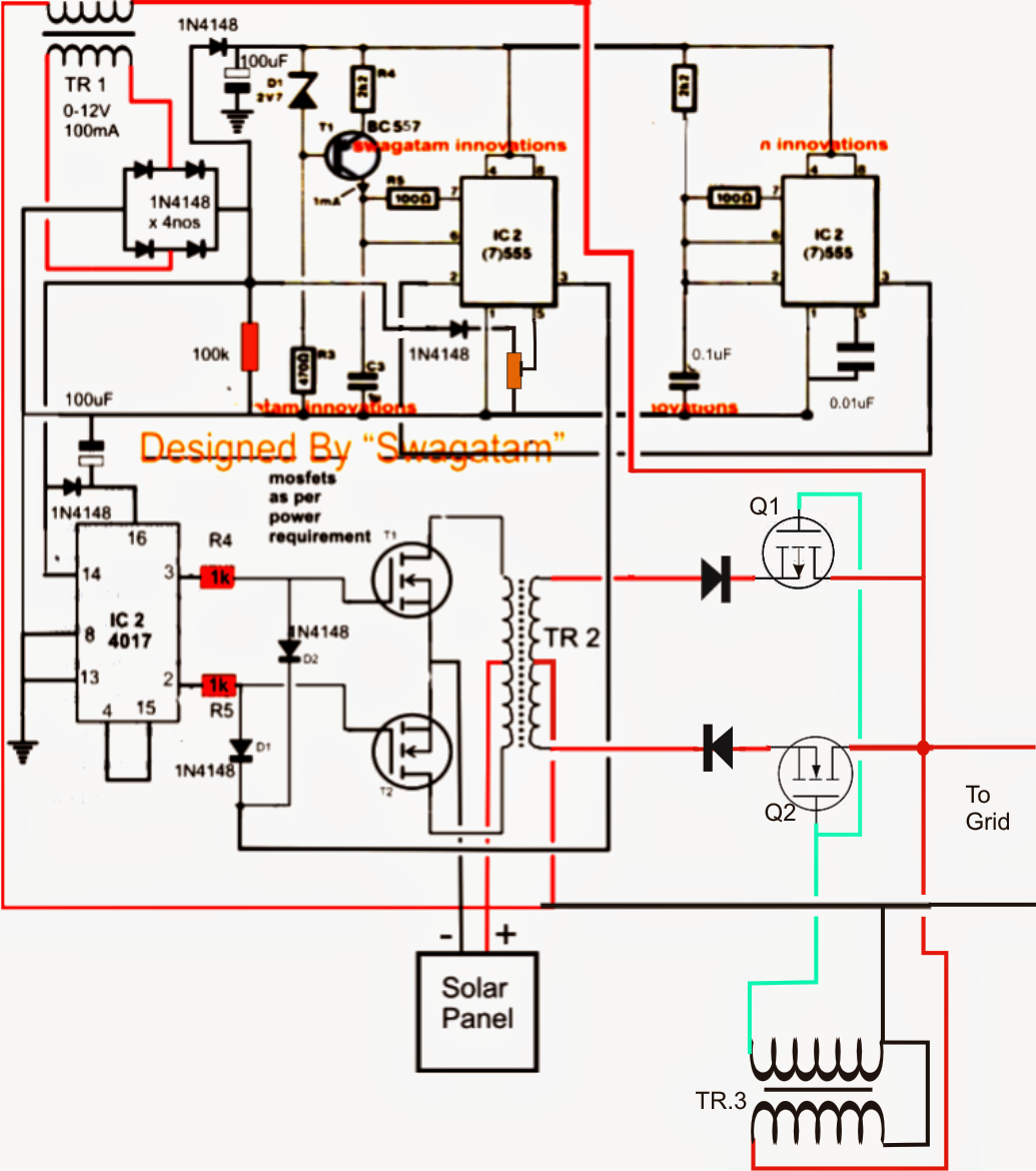 solar grid tie inverter circuit diagram xlr to trs wiring get free image about